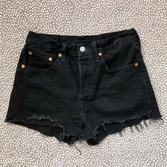 Levi's Pants - Levi's 501 Black Cutoff High Waisted Shorts
